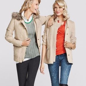 CAbi Nanook jacket style #110 khaki hooded size S